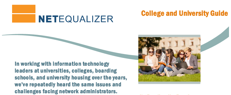 NetEqualizer Colleges & Universities Guide