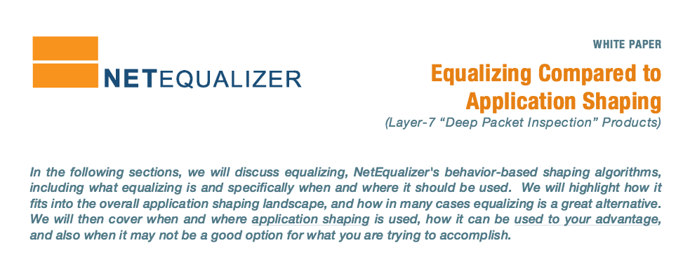 NetEqualizer Comparison White Paper